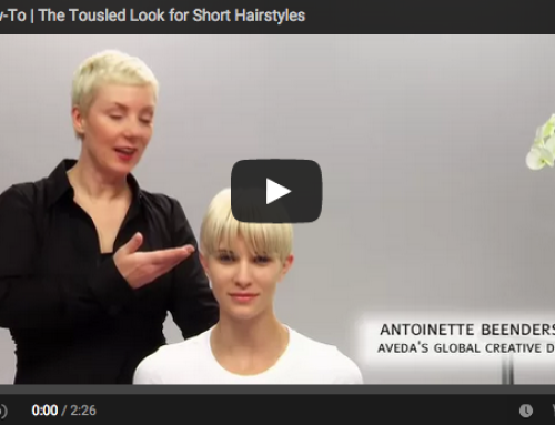 Aveda How To: The Tousled Look for Short Hair